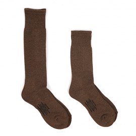 CUSHION SOLE SOCKS BROWN